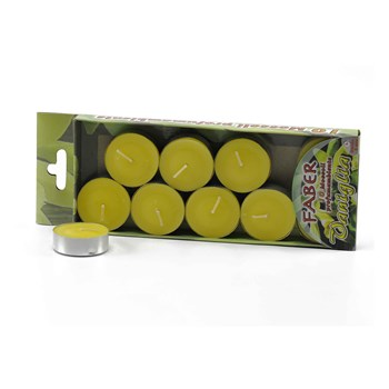Candele Tea Light Vaniglia Gialle cm.3,5 Set pz.10
