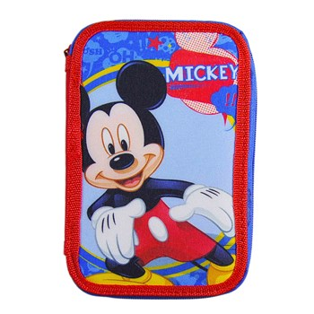 Astuccio Disney Mickey Mouse con Accessori 3 Zip
